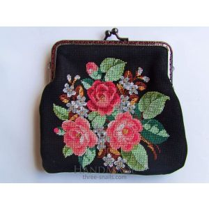 "Makeup bag ""Black&Roses"""
