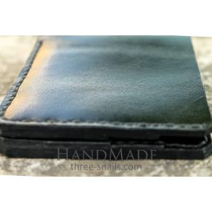 "Male leather wallet ""Black Hawk Down"""