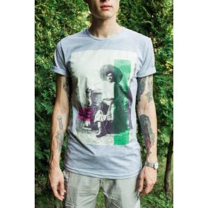 "Man T-shirt ""Ukrainian man in straw hat""."
