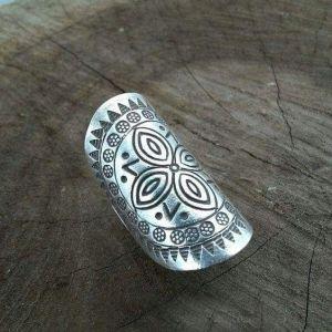 Mandala silver ring