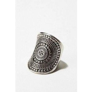 Mandala sterling silver ring