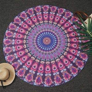 Mandala tapestry round towel