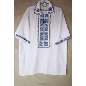 "Men embroidered shirts ""Blue patterns"""