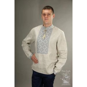 "Mens long sleeve linen shirt ""Borislav"""