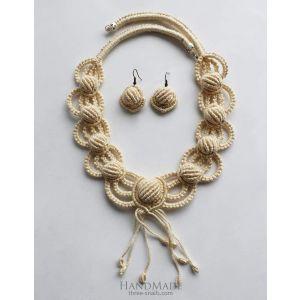 "Micro macrame jewelry ""Francesca"""