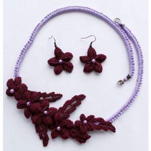 "Micro macrame necklaces ""Magnolia"""