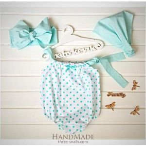 Mint summer set for baby girls