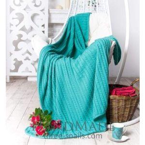 Mint woven knit blanket