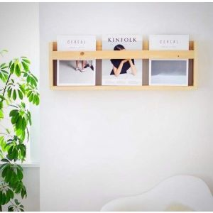 Modern magazine shelf