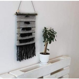 "Modern wall decor ""Stepped gray hanging"""