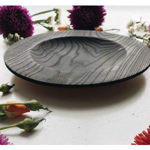 Modern wood bowl black
