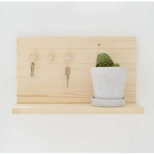 Modern wooden key shelf