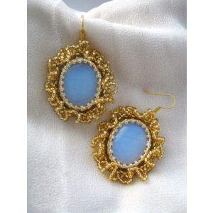 """Moonstone dangle earrings """"Moonlight sonata"""""""