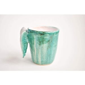 "Mug with wings ""Dark Turquoise"""