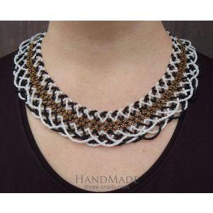 "Multi bead necklace ""Gold Sylianka"""