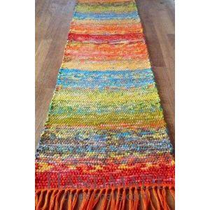 Multicolored hand woven rug
