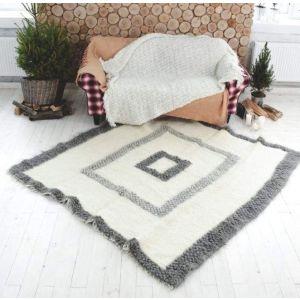 """Natural fiber rug""""Eco squares"""""""