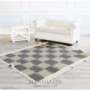 """Natural rug""""Chess"""""""