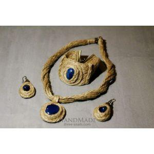 "Natural Stone Jewelry Set ""Ultramarine"""