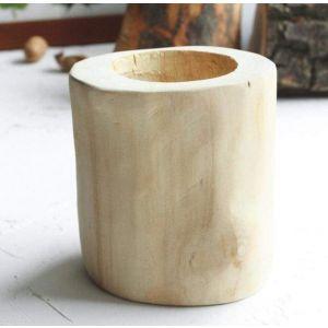 """Natural wood succulent ash pot """"Loft"""""""