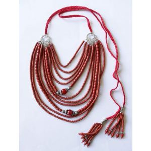"""Necklaces """"Red sunshine"""""""