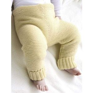 Newborn knitted pants