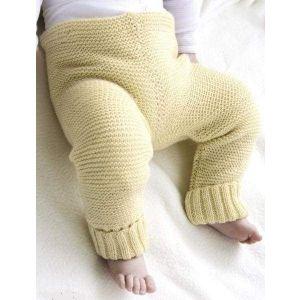 Newborn knitted pants