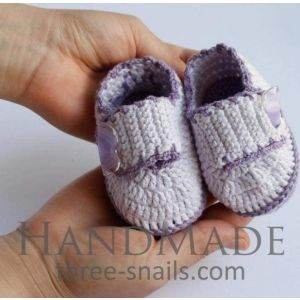 "Newborn shoes ""Violet lace"""