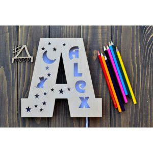 "Night light for Children ""Letter"""