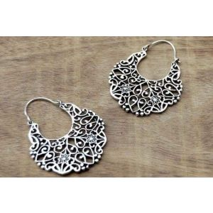 Openwork tribal earrings