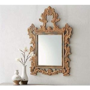 Ornate wooden mirror