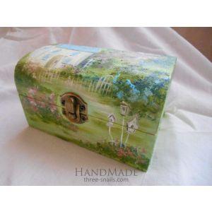 "Painted jewelry box ""Ile de France"""