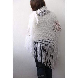 """Pashmina scarf """"White net"""""""