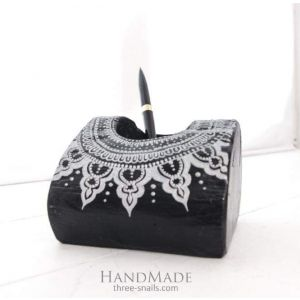 "Pen Organizer ""White lace pattern"""