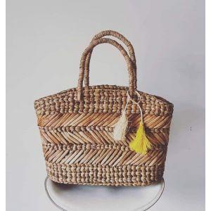 Picnic handwoven tote bag