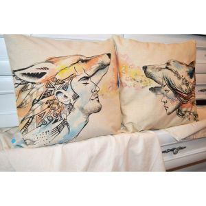 Pillow design for him and her. «Enamored» set