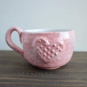 "Pink ceramic cup ""Sweet"""
