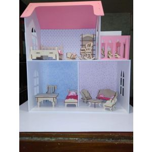 """Plywood house for dolls """"Dream home"""""""