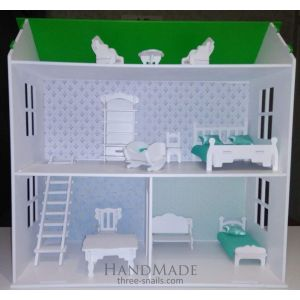 """Plywood toy house """"Green Ave"""""""