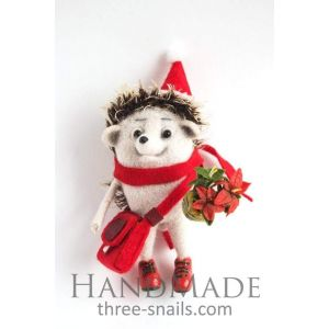 "Popular Christmas toys ""Hedgehog with flower"""