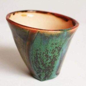 "Pot for succulent handmade ""Green vortex"""