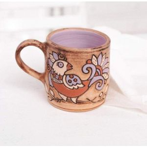"Pottery mugs ""Bird"""