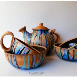 "Pottery set ""Countryside"""
