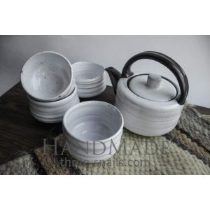 "Pottery set ""Milky rivers"""