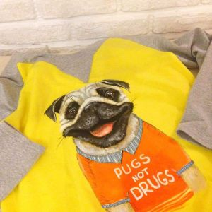 «Pugs not Drugs» Sweatshirt