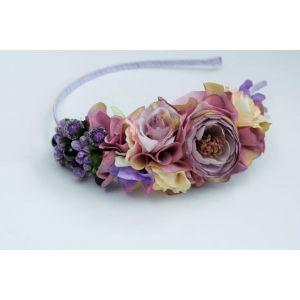 "Purple floral headband ""Violet shades"""