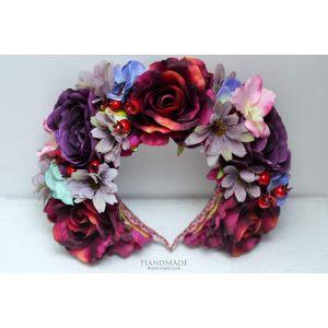 "Purple flower crown ""Summer time"""