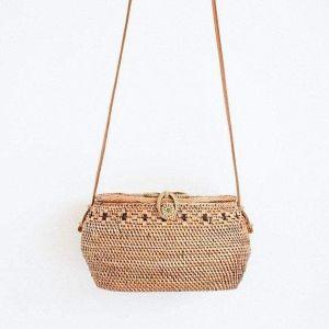 Rattan basket сrossbody bag