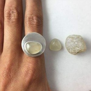 Raw topaz ring