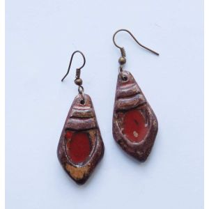 "Red earrings ""Clay chic"""